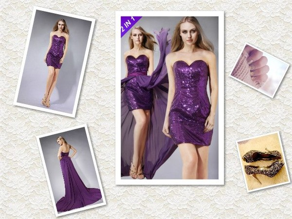dress prom dress purple sequin dress