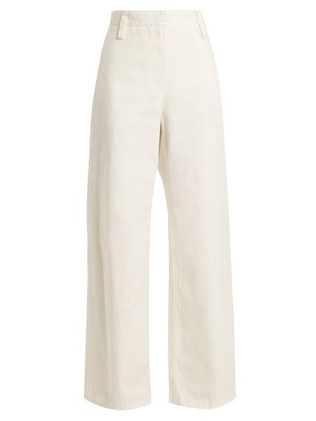 The Row cotton white pants