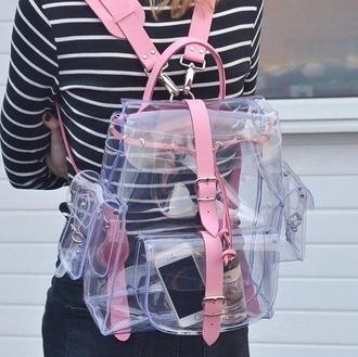 bag rose transparent  bag backpack