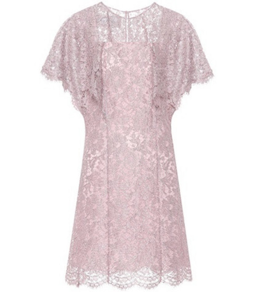 Valentino Silk lace dress in purple