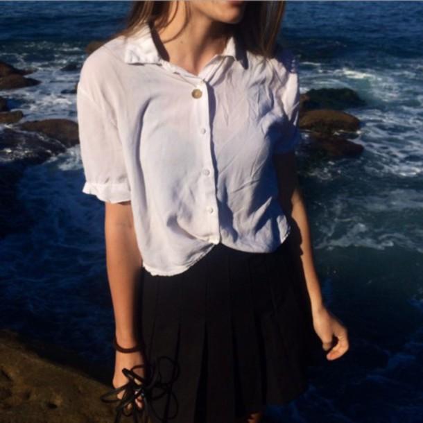blouse shirt white shirt button up shirt