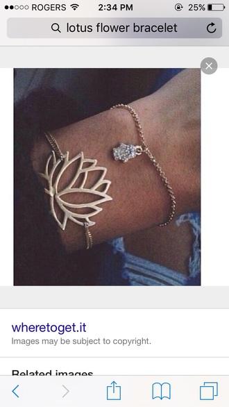jewels gold braclet lotus lotus flower bracelet cute bracelets hamsa hamsa bracelet hamsa hand jewelry gold bracelet