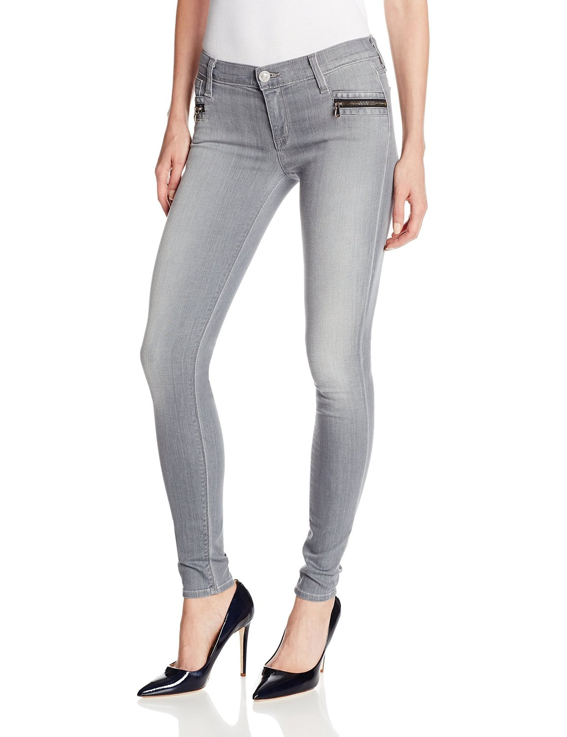 Hudson women's spark zipper skinny jean in puritan at amazon women's clothing store: