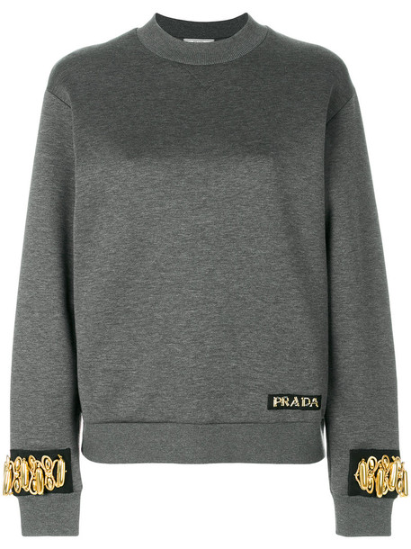 Prada cuff metal women cotton grey jewels