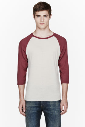 Levis Vintage Clothing Burgundy Raglan Baseball T-shirt for men | SSENSE