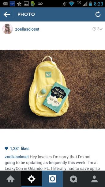 bag yellow backpack backpack walmart