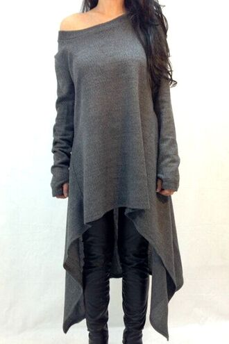 sweater grey casual fashion style long sleeves asymmetrical fall outfits off the shoulder top dress long dress tank top grey sweater grey dress grey top black dress boho dress dress corilynn prom dress lace dress cute dress little black dress midi dress a-line wedding dresses classic plaids a-line skirt in purple outfit outfit idea tumblr outfit asymmetrical dress streetwear streetstyle girl girly wishlist steampunk
