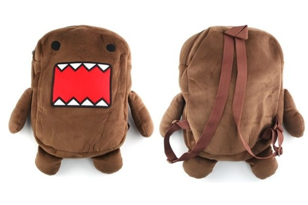 bag red brown domo backpack bookbag cute