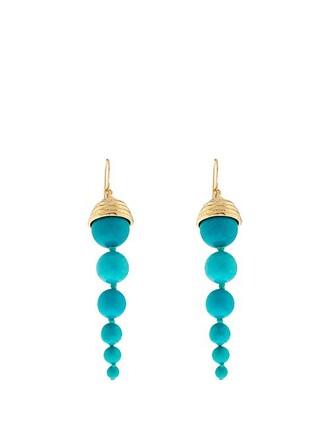 pearl earrings blue jewels
