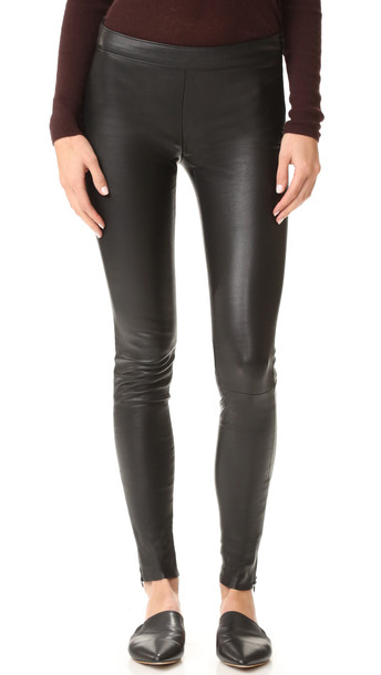 Mackage Leather Leggings - Black