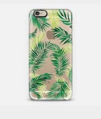phone cover iphon6 iphone5s palm tree leafs clear clear case clear palm leaf case palm leafs leaves