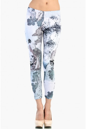 LoveMelrose.com From Harry & Molly | Japanese Picture Print Leggings
