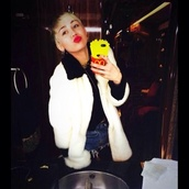 phone cover,miley cyrus,moschino,mcdonalds,coat