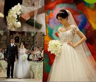 dress wedding lace white