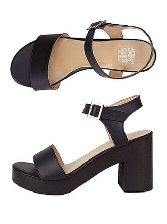 shoes sandals wooden heel american apparel