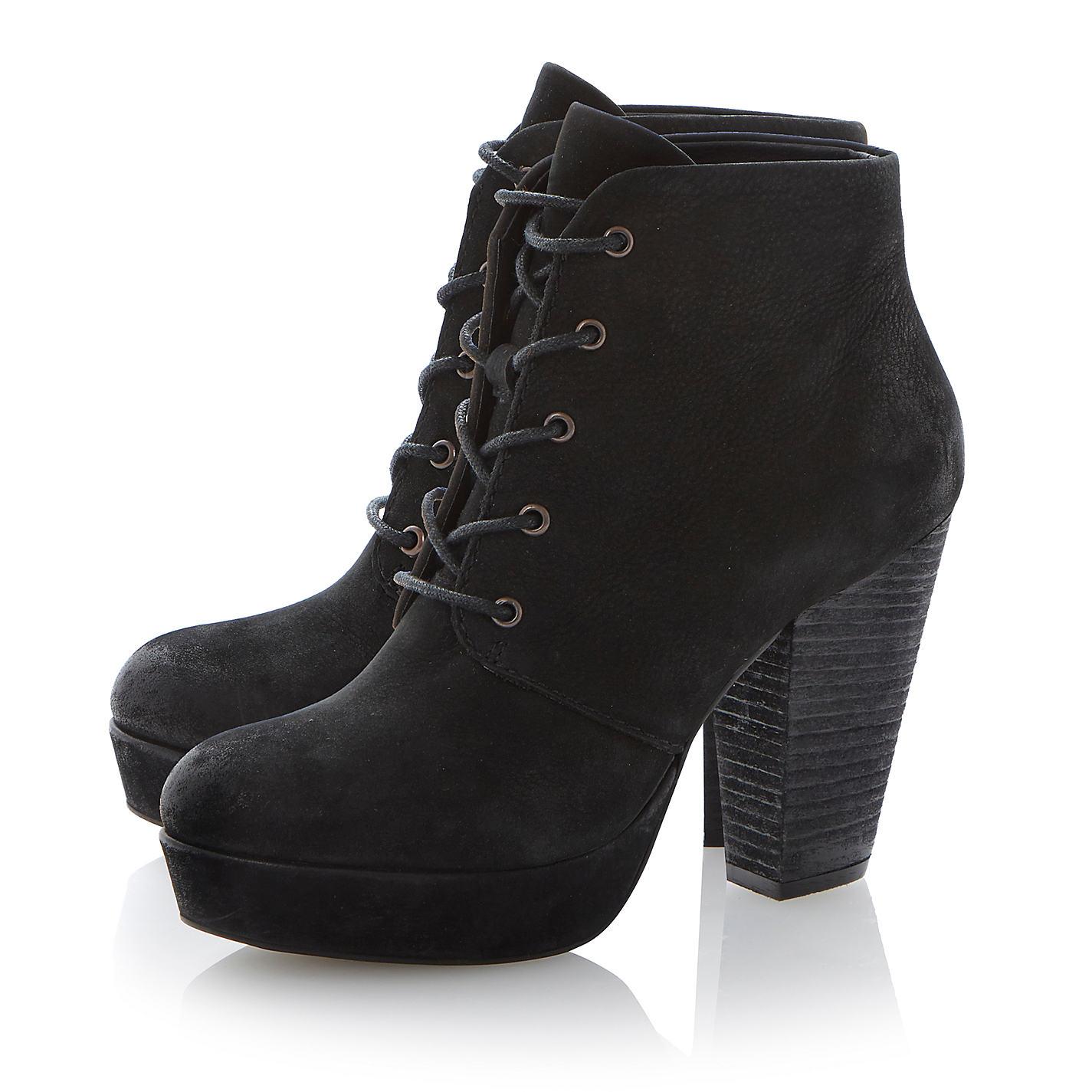 Steve Madden Raspy Platform Leather Ankle Boots | John Lewis