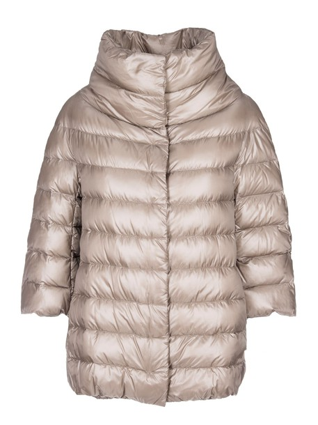 Herno jacket cropped brown