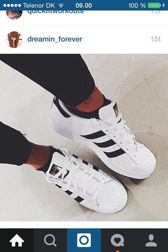 shoes adidas white black