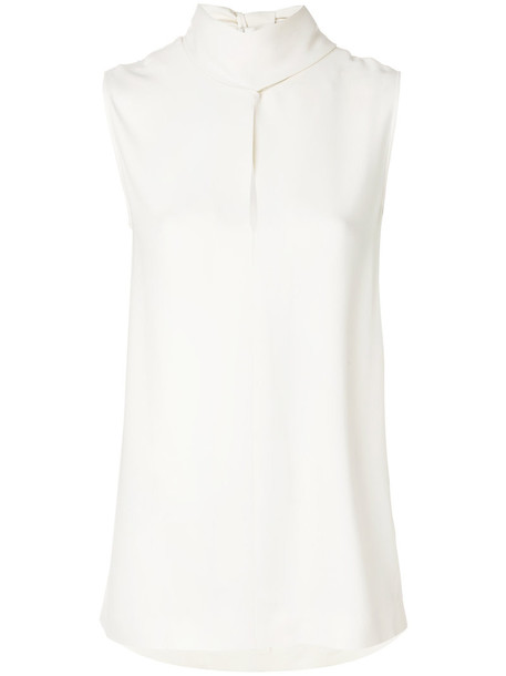 Joseph shirt women slit spandex nude top
