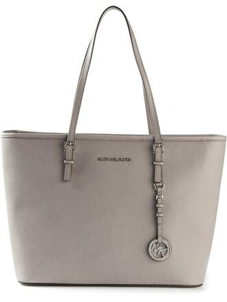 women bag tote bag leather grey