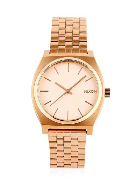 NIXON Time Teller Rose Gold Finish Watch