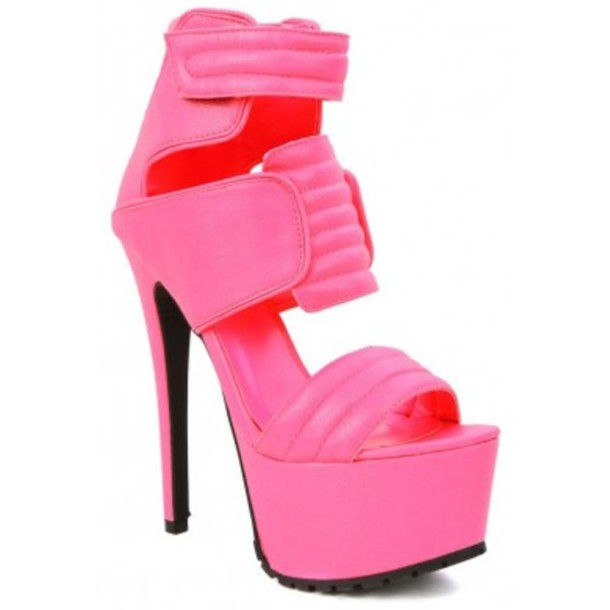 shoes privileged neon pink shoes high heels