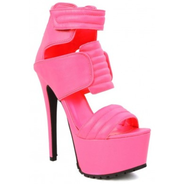 shoes privileged neon pink shoes high heels female sexy shoes
