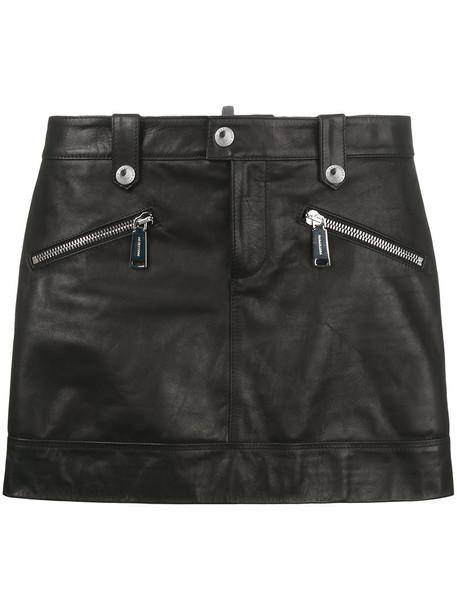 Dsquared2 skirt mini skirt mini women leather cotton black