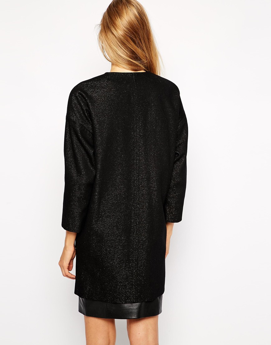 Helene Berman Collarless Coat at asos.com