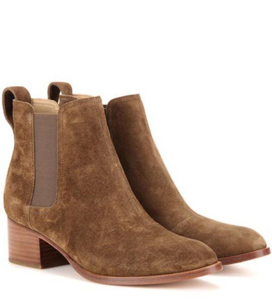 Rag & Bone Walker Suede Ankle Boots in brown