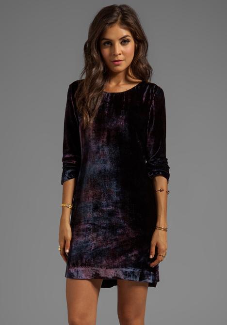 GYPSY 05 Velvet Long Sleeve Peephole Dress in Aubergine at Revolve Clothing - Free Shipping!