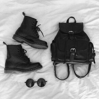 bag black bag shoes sunglasses