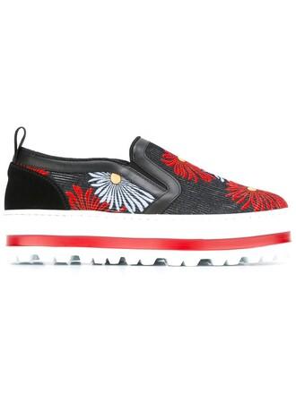 sneakers platform sneakers floral shoes