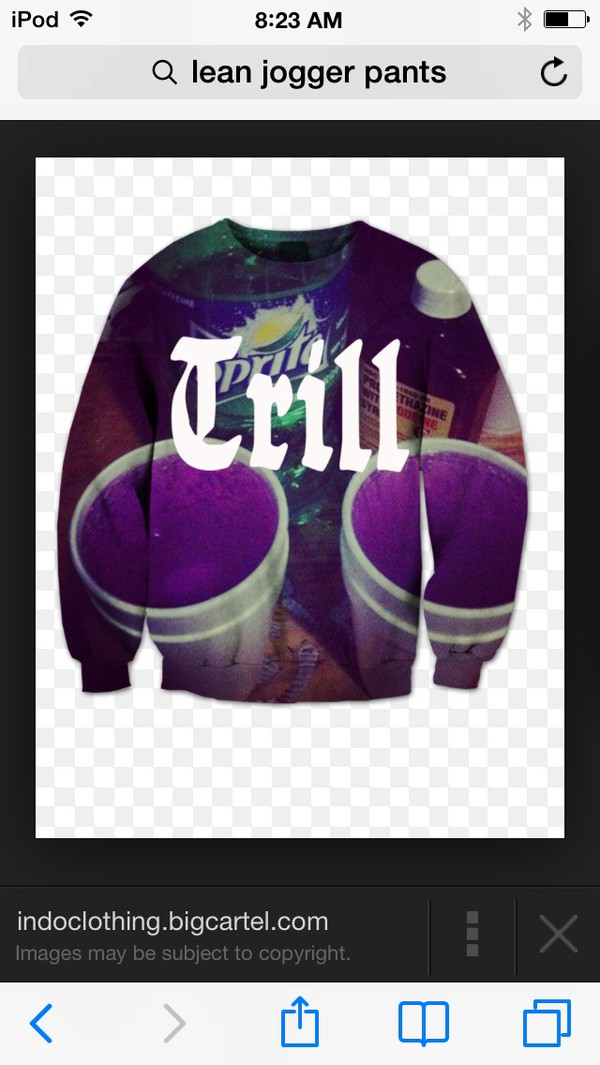 sweater lean trill sweatshirt brand #howmuch  #wheretoget dirty sprite sweater