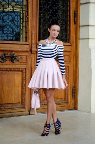 my silk fairytale blogger blouse skirt shoes jewels bag