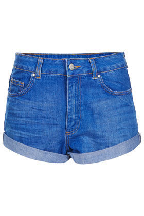MOTO High Waisted Denim Shorts - Topshop