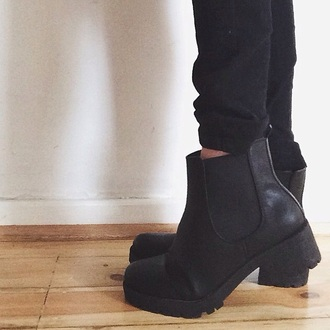 shoes black boots heels flatworms winter boots