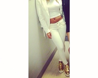 shoes gold white gold and white shoes platform shoes cute
