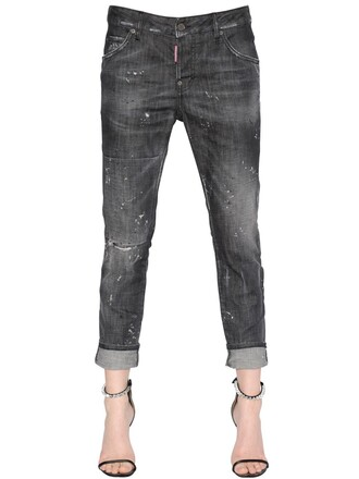 jeans denim girl cool cotton black