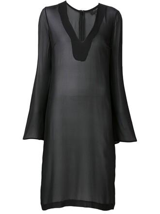 blouse sheer blouse oversized sheer black top