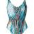 Lygia & Nanny - printed bodysuit - women - Polyamide/Spandex/Elastane - 46, Blue, Polyamide/Spandex/Elastane