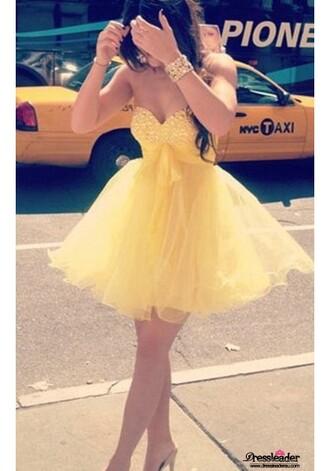 dress yelow short formal dresses beadding yellow empire formal dresses beautiful girl yellow mini dress sweetheart dress mini dress