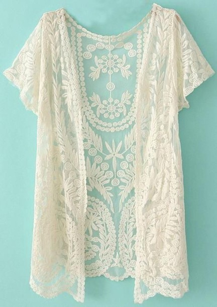 cardigan white lace cardigan