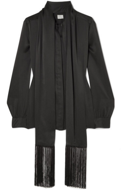Hillier Bartley blouse black silk top