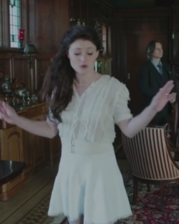 cardigan bolero cardigan once upon a time show emilie de ravin skirt