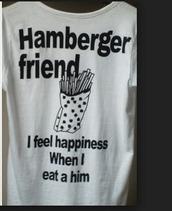 shirt,tumblr,hamburger,fries,food,happiness,funny,t-shirt,funny t-shirt,weird
