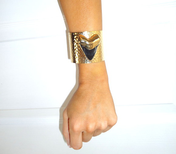 boho jewels boho chic gold dipped pine jewelry pinejewelry shark tooth jaws bracelet fossil jewelry electroplated fall jewelry shark tooth jewelry shark tooth bracelet gold cuff hammered gold cuff handcrafted jewelry