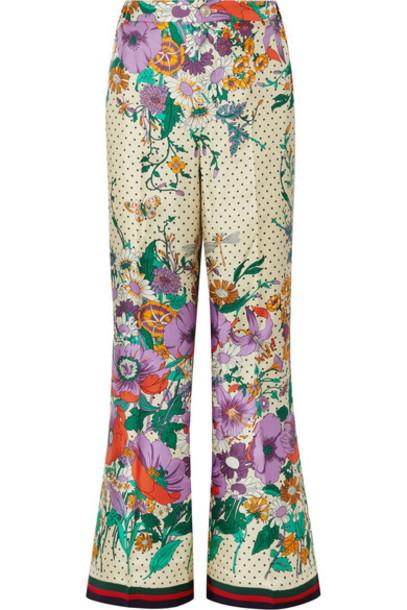 pants wide-leg pants silk