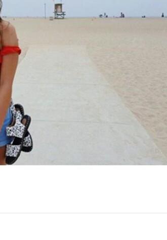 shoes white animal print black sandals flat sandals