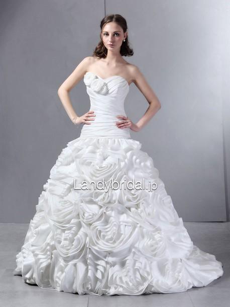 dress ローウエスト ウェディングドレス ビスチェ